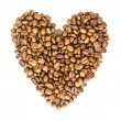 Royalty-Free Stock Photo: Heart from Coffee Beans isolated on white background