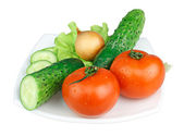 Fresh Vegetables isolated on white background — Stock Photo