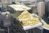 The conveyor for dough manufacture — Stock Photo