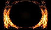Fiery framework — Stock Photo