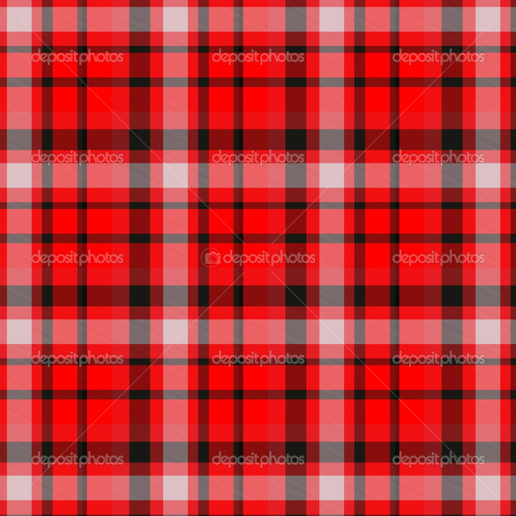 The image of the Scottish fabric of red color — Stock Photo #10283852