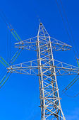 Tower of a high voltage power line — Stock Photo
