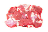Fresh beef meat, isolated on the white — Stock Photo