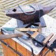 Forge tools on an anvil — Stock Photo
