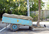 The old automobile trailer — Stock Photo