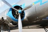 Propeller of historical airplane Lisunov LI-2 — ストック写真