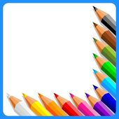 Background with crayons — Stock Vector
