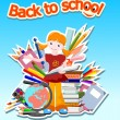 Back to school - vector illustration — Stock Vector