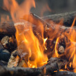 Wood on fire. — Stock Photo