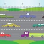 City road, vector illustration — Stock Vector