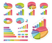 Set Of Coloured Charts — Stock Vector