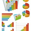 Icons And Chart Elements — Stock Vector #10230704