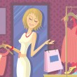 Royalty-Free Stock Vector Image: Woman Shopping