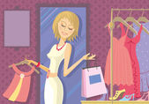 Woman Shopping — Wektor stockowy