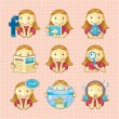 Design elements: set of social icons — Vector de stock #9986787