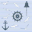 Marine pattern — Stock Vector