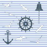 Marine pattern — Stock Vector #10251711