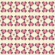 Seamless pattern of roses and hearts — Stock Vector