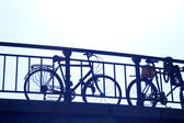 Bicycle on Amsterdam Bridge — Stock Photo