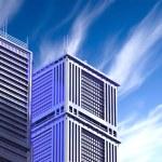 Skyscrapers.3d render. — Stock Photo