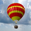 Hot air balloon sporting activity on a fresh blue day. — Stock Photo