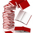 Falling books from a column — Stock Photo #10009646