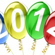 Happy New Year 2012 balloons  — Stock Photo
