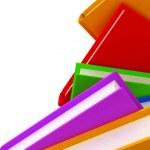 3D row of books — Stock Photo #10009838