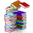 3D column of books  — Stock Photo
