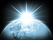 Globo com luz. — Foto Stock