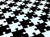 3D Checkered puzzle background — Stock Photo