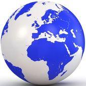 3d water globe. — Stock Photo