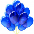3d party balloons translucent colored blue. Isolated on white background — Stock Photo #10010091