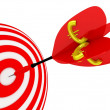 Stock Photo: Target. Success concept with euro symbol.