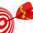 Target. Success concept with euro symbol. — Stock Photo #10010138