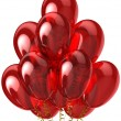 3d party balloons translucent colored red. Isolated on white background — Stock Photo #10010506