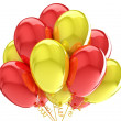 Party balloons colorful solar yellow red  — Stock Photo