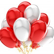 3d party balloons birthday decoration multicolor. Isolated on white background. — Stock Photo