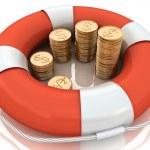 Konzept der Versicherung des monetären Beiträge — Stockfoto #10011452