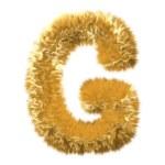 Letter G from fur fox alphabet — Stock Photo