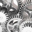 3d gears. Work concept. - Stock Photo