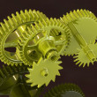 Gear machinery concept on black background. - Stock Photo