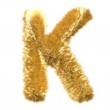 Letter K from fur fox alphabet — Stock Photo #10012033