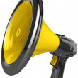 Megaphone blog announce. - Stock Photo