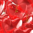Heart red balloons. — Stock Photo