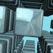 Abstract blue cubes background — Stock Photo