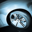 Sport Car Wheel — Stock Photo #10012936