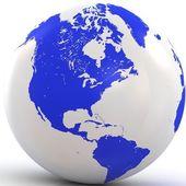 Globe 3d isolé sur fond blanc — Photo