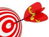 Target. Success concept with euro symbol. — Stock Photo