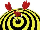 Target. Success concept. 3d illustration. — Stock Photo